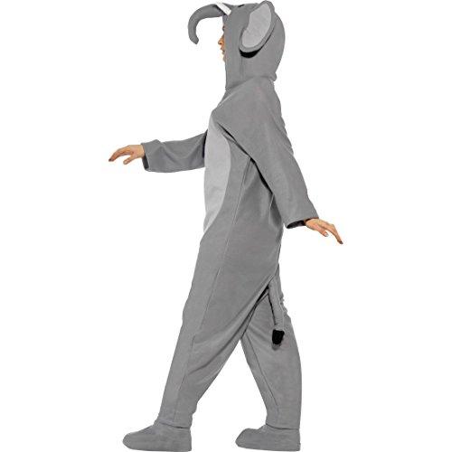 Amakando Elefant Jumpsuit Tierkostüm Overall L 44/46 Ganzkörper Elefantenkostüm Elefanten Kostüm Karneval Kostüme Damen Tier Faschingskostüm Zoo Elefantkostüm