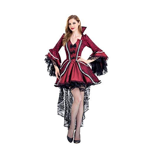 Vixen Halloween Kostüm - VVcostumes Frauen sterben über Vampir Kostüm, Frauen Vampir Vixen Kostüm, Kostüm Hexe Anzug for Party Halloween (Size : XXL)