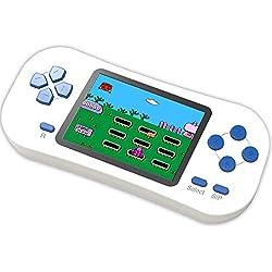 Bornkid Console de Jeu Portable pour Enfants Adultes 218 Jeux éducatifs Rétro Classiques Préinstallés Écran de 2,5 Pouces Rechargeable Système de Jeu Blanc