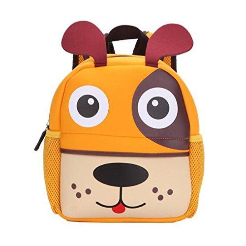GWELL Tier Babyrucksack Wasserdicht Kindergartenrucksack Schultasche Kinder Mädchen Jungen hund