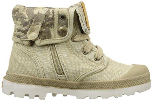 Palladium Baggy Zipper Ii, Hohe Sneakers Mixte Enfant Beige (Sahara/moonbeam/camo)