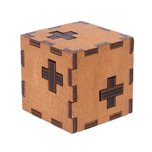 Dabixx Puzzle-Spielzeug, Schweiz Cube Holz Geheimnis Puzzle Box Holz Spielzeug Rätsel Spielzeug für Kinder