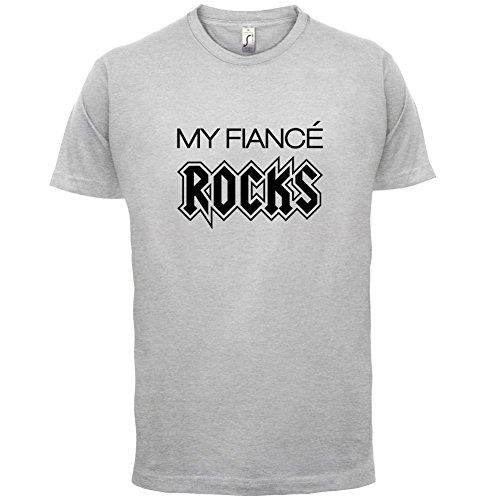 My Fiancé Rocks - Herren T-Shirt - 13 Farben Hellgrau