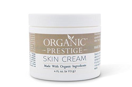 Luxury Organic Dry Skin Repair CREAM & Natural Facial Moisturizer (4 oz) Rosacea, Eczema, Psoriasis,...
