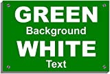 OVER 21s ONLY Weatherproof sign 5464 Aluminium, PVC or Sticker(15cm x 20cm approx 6' 8' Dilite 3mm White on Green)