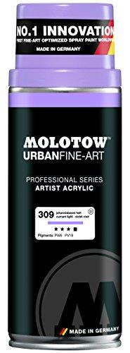 Spray Paint Light (Molotow : Urban Fine Art : Artist Acrylic Spray Paint : 400ml : Currant Light 309 : Ship By Road Only)