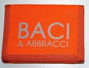 Portafoglio arancione Baci & Abbracci