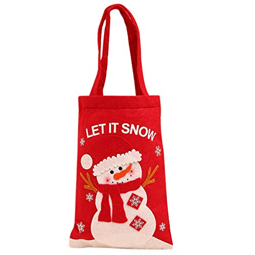 carol -1 Geschenktaschen Kindergeburtstag Weihnachten Geschenktüten, Weihnachten Geschenk Süßigkeiten Tasche Weihnachts Geschenktüte Groß Weihnachten Partytüten zum Befüllen