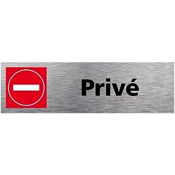 Symbol PSC18 Plaque polycarbonate adh/ésive 160 x 50 mm Entr/ée interdite
