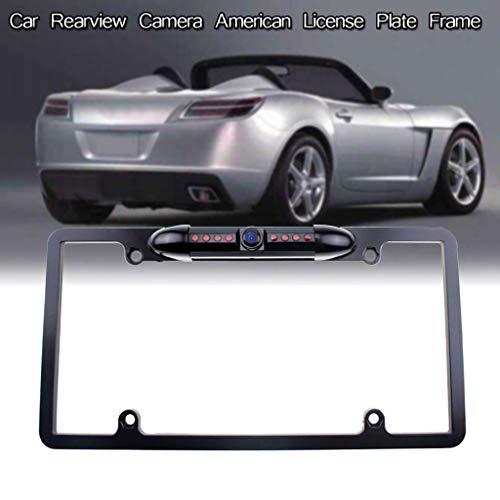 htfrgeds Auto Kamera: Rückfahrkamera & Einparkhilfe mit Abstandswarner, Nummernschildhalter (Einparkhilfe Kennzeichen)