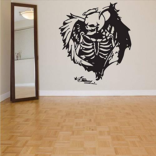 Kuletieas Halloween Aufkleber Schädel Auto Aufkleber Poster Vinyl Wandtattoos Aufkleber Malerei Wand Dekor Wandbild Halloween Aufkleber 58 * 66 Cm