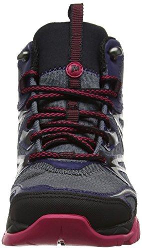 Merrell Capra Bolt Mid Gore-Tex, Chaussures de Randonnée Hautes Femme Multicolore (Plum Plumeria)