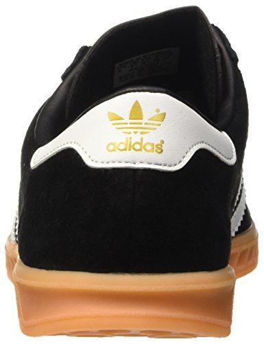 adidas Hamburg, Baskets Basses Homme Noir (Core Black/Ftwr White/Gum)