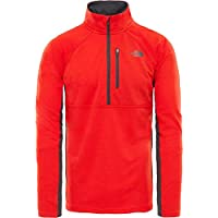 The North Face M Zip Camisa de Manga Larga con Cremallera de 1/4 Ambition, Hombre, Fiery Red Heather, M