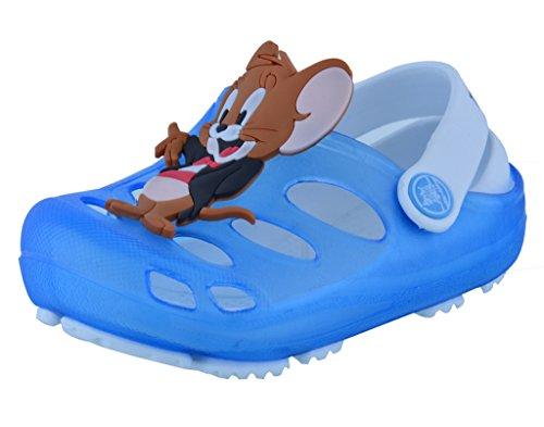 Lil Firestar Unisex Kids Casual Eva Sandals Crocs Clogs_Sky Blue & White_8CUK/27EU  available at amazon for Rs.549
