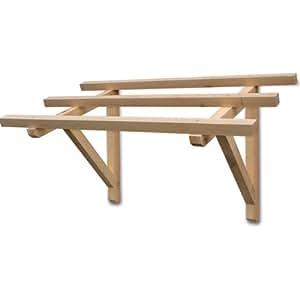 Struttura pensilina in legno massello per esterno cm 120x62x70h