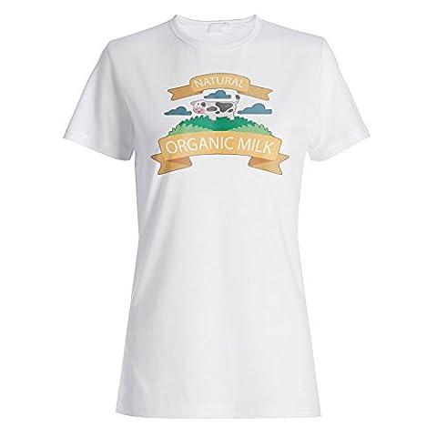 Nouvelle Vache Mignon Au Lait Organique Dames T-shirt