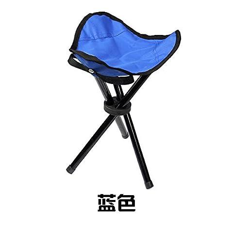 LanLan Tripod Folding Slacker Chair Portable Light weight Fishing Seat Stool For Camping Hiking Gardening