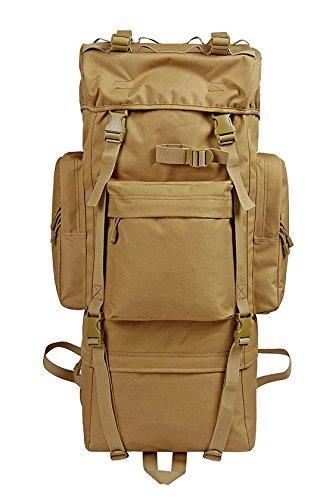 Zainetto grande capacità mimetica alpinismo zaino borse, verde militare, 100L senza Rain cover (d)65L con cappuccio antipioggia