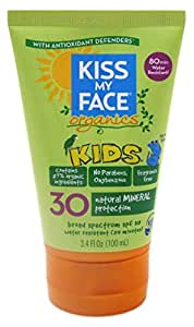 Kiss My Face Spf#30 Organics Kids Sunscreen 3.4oz by Kiss My Face