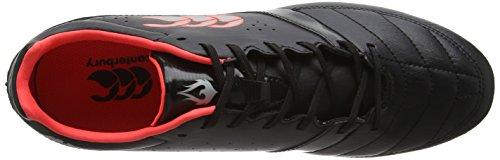 Canterbury Phoenix Club 8 Stud, Chaussures de Rugby Homme Noir (989 Black/Red/White)