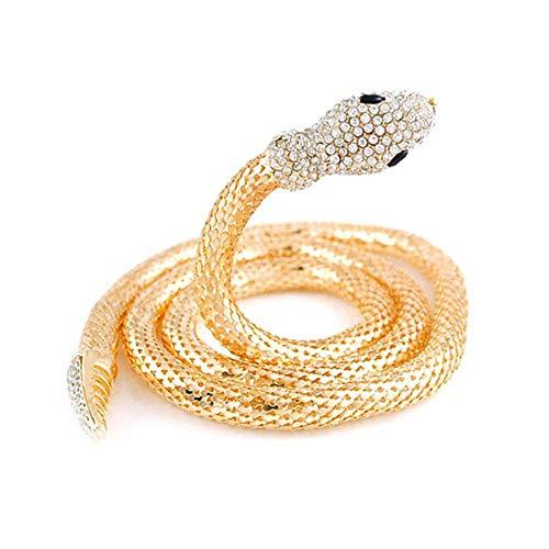 SEALEN Flexibel Biegsame Schlangenkette Gothic Magnetic Choker Vielseitig Einsetzbar als Bundband