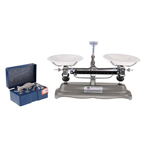 Sharplace 100/200/500 Gramm Kinderwaage Balancewaage Waage mit Gewichten Set - 500 Gramm -