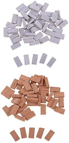 Fenteer 100pcs Briques Kit de Construction Maison de Modélisme Poupée Modélisme de - Décoration Paysage Table de Sable 00a26a