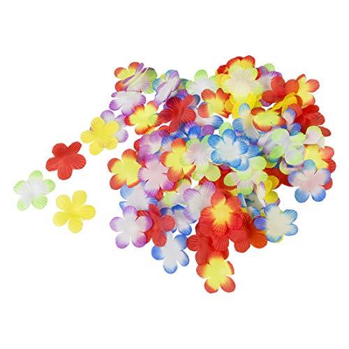 toybakery - Karnevals Dekoration Deko 300 Blumen Blüten Verzierungen, Flower Embellishments, ideal für Jede Karnevals Party / Feier, Mehrfarbig