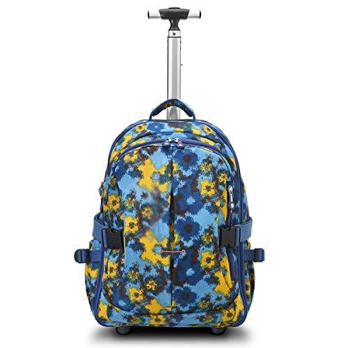 XHHWZB Trolley zaino per bambini Rolling School Carry on Luggage con asta estraibile