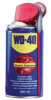 WD40 39489Lubrificante professionale multiuso spray con erogatore doppia posizione - 250 ml Specifiche:Descrizione generalel prodotto WD-40® multifunzione lubrifica, elimina cigolii, sblocca, elimina l'umidità, previene la ruggine e protegge tutte le...