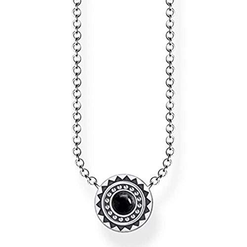 Thomas Sabo Damen-Kette Ethno Schwarz 925 Sterling Silber geschwärzt Schwarz KE1672-704-11-L45v