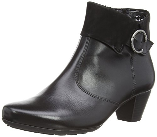 Gabor Cougar L, Stivali donna Nero (Black Leather/Nubuck)