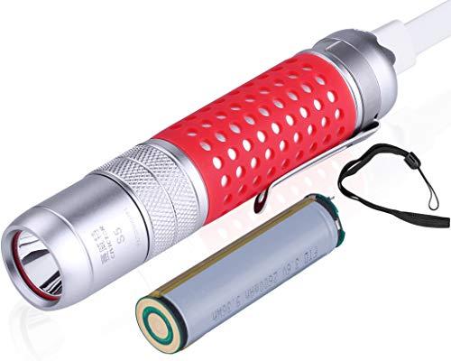 Kleine Akku Taschenlampe Wiederaufladbar USB Taschenlampe Klein - CREE Taschenlampe LED Extreme Helle Led Taschenlampe Aufladbar 18650 Batterie Wasserdichte Mini Taschenlampe USB Flashlight Camping - Kleine Taschenlampe Wiederaufladbare