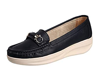 Zappy Womens and Girls Faux Leather Loafers,Casual Loafers,Casual Shoes,Walking Loafers,Lightweight Loafers and Dailywear Loafers
