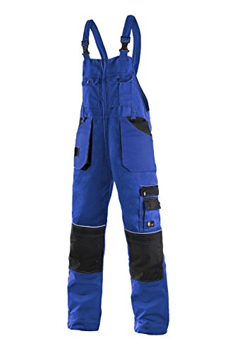 Preisvergleich Produktbild CXS Krystof Herren Arbeitslatzhose mit Kniepolstertaschen - Sehr Stabile Strapazierfähige Arbeitshose mit Hosenträger Gartenhose Bundhose Cargohose Arbeitsoveral