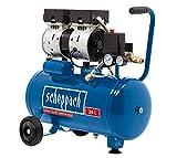 Scheppach Flüster Kompressor HC24Si (60 dB, 24 L, 8 bar, 550 Watt, Ansaugleistung 120L/min, ölfrei) Silent und Leise-Kompressor
