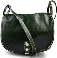 Borsa donna tracolla a spalla vera pelle hobo bag made in Italy verde