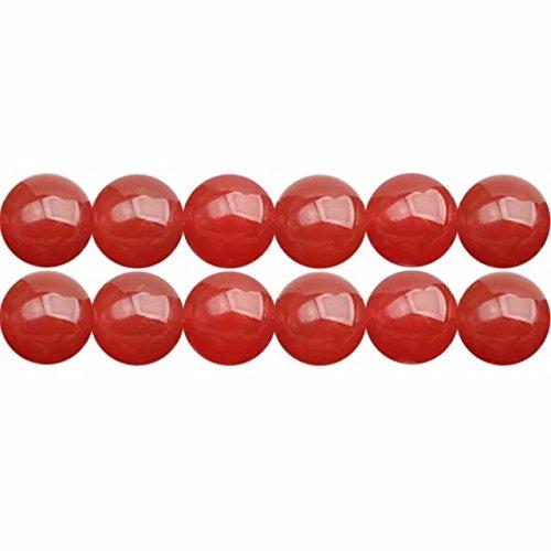 Natuerliche Rot Karneol Achat 8mm Rund Perlen für Schmuckherstellung 38cm Strang Approx 48 Stück -
