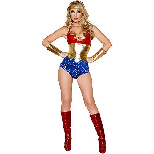 GAOJUAN Halloween Cosplay Kostüm Erwachsene Cosplay Superman Uniform Wonder Woman Heroes Bühnenkostüm Geeignet Für Karneval Thema Parteien Halloween