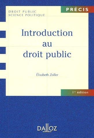 Introduction au droit public : Edition 2006