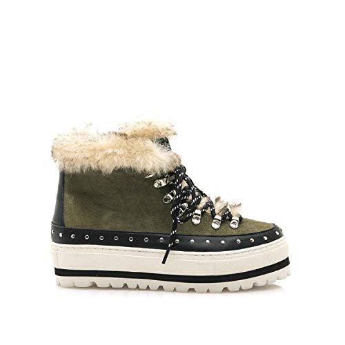 SIXTY SEVEN Kaky fur Boots by Sixtyseven. (37 - Khaki Green)