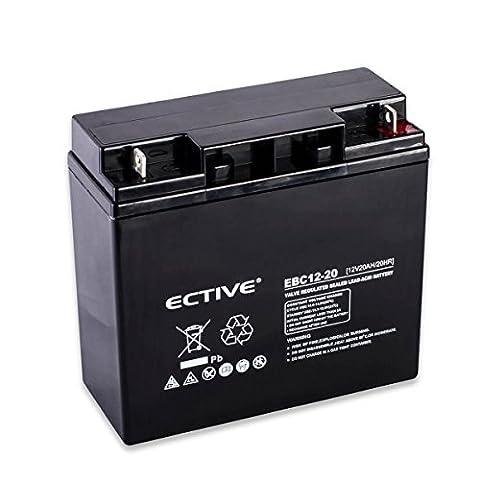 ECTIVE EBC-Serie | Zyklenfester 12V Bleiakku | 10 Varianten: 9Ah - 50Ah |Wartungsfreier Blei-AGM-Akku, Blei-Vlies-Akku, AGM-Akku, Bleigelakku, Blei-Akku, Blei-Batterie für höchste Anforderungen (20 Ah F3)