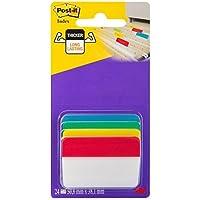 Post-it 686A-1 - Etiquetas autoadhesivas para ficheros (con ángulo, 6 etiquetas de cada color, 24 unidades)