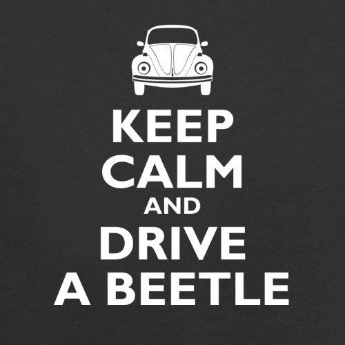 Keep Calm and Drive A Beetle - Herren T-Shirt - 13 Farben Schwarz
