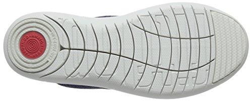 Fitflop Uberknit Slip-On Sneakers, Sneaker a Collo Alto Donna Blue (Indian Blue/Powder Blue)