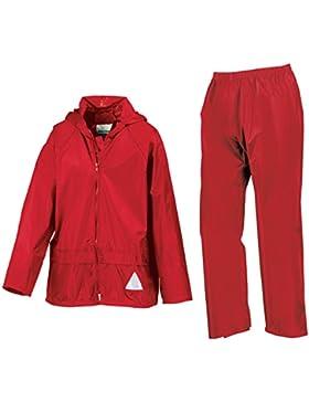 Chaqueta y pantalón impermeables para niños re95j Heavyweight, RE95J, niño niña unisex, color rojo, tamaño 146...