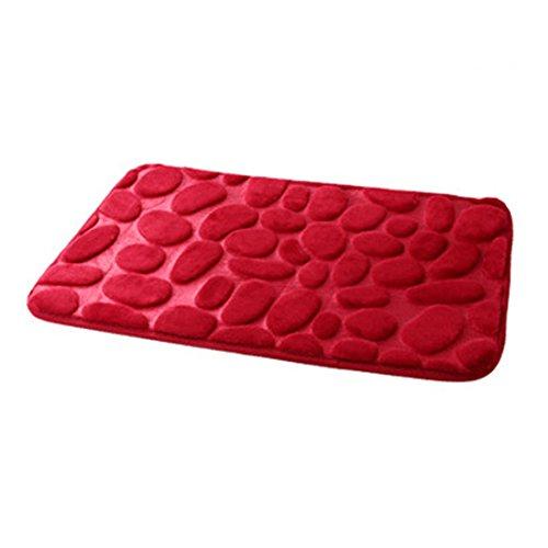 Alfombrilla de baño fabricada en tejido polar coral. Alfombrilla antideslizante para el baño. Alfrombrillas...