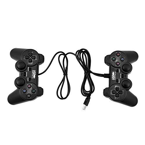 Zerone 2 Stücke USB Gamepad Controller, Wired Gaming Controller Doppel Schock Joystick Gamepad Doppel Vibration für PC