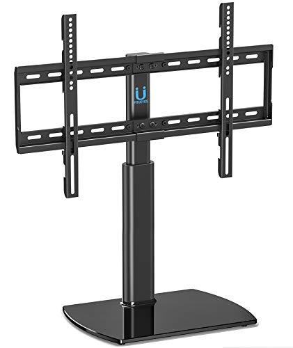 FITUEYES Universal TV Ständer Fernsehtisch Standfuss Glas für 32 bis 65 Zoll LCD LED höhenverstellbar schwenkbar schwarz TT107002GB - Zubehör Universal-glas